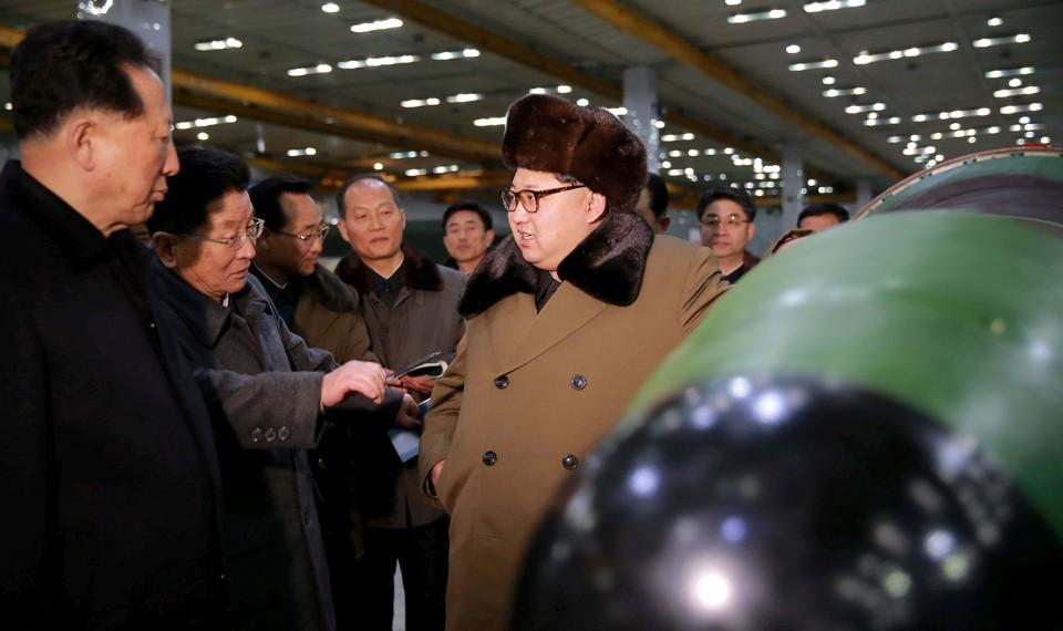 North Korean leader Kim Jong Un meets scientists and technicians