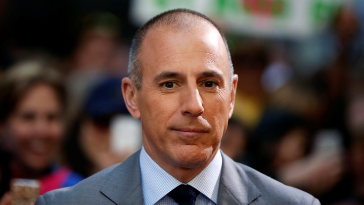 "Host Matt Lauer pauses during a break while filming NBC's ""Today"" show at Rockefeller Center in New York, May 3, 2013."