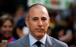 """Host Matt Lauer pauses during a break while filming NBC's """"Today"""" show at Rockefeller Center in New York, May 3, 2013."""