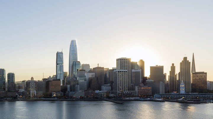 The San Francisco skyline with the Salesforce Tower
