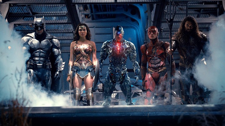Batman, Wonder Woman, Cyborg, The Flash, and Aquaman