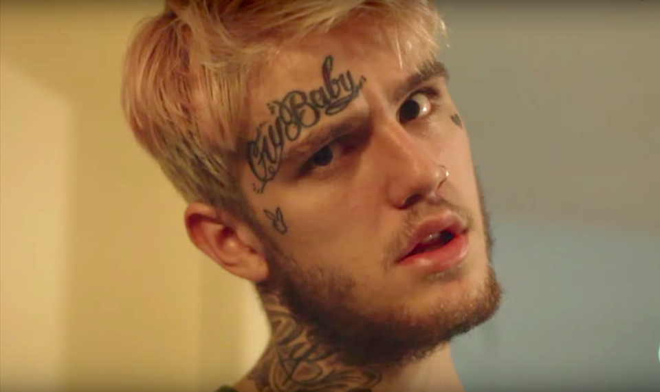 Lil Peep in the 'White Wine' video