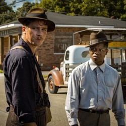Garrett Hedlund and Jason Mitchell in 'Mudbound'