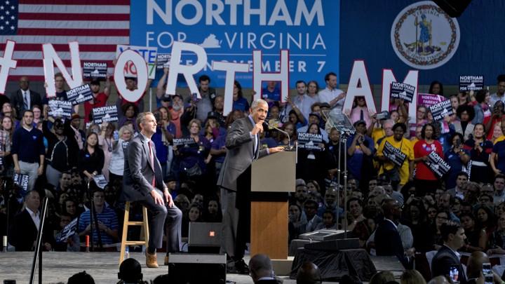 Ralph Northam and Former President Barack Obama