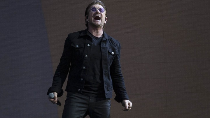 Bono of U2 performs in 2017.