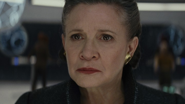 Carrie Fisher as Leia in 'The Last Jedi'