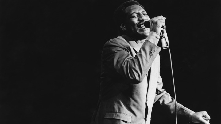 The American soul singer Otis Redding performs at the Monterey Pop Festival in California in June 1967.