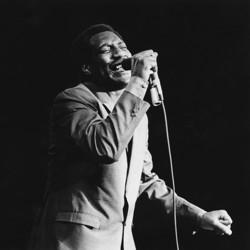 The American soul singer Otis Redding performs at the Monterey Pop Festival in California in June 1967.