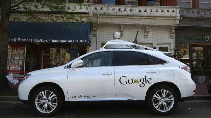 A Google self-driving car on Pennsylvania Avenue in Washington, D.C.