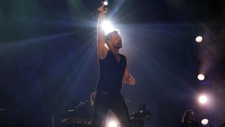 Jon Bon Jovi performs in Singapore in 2015