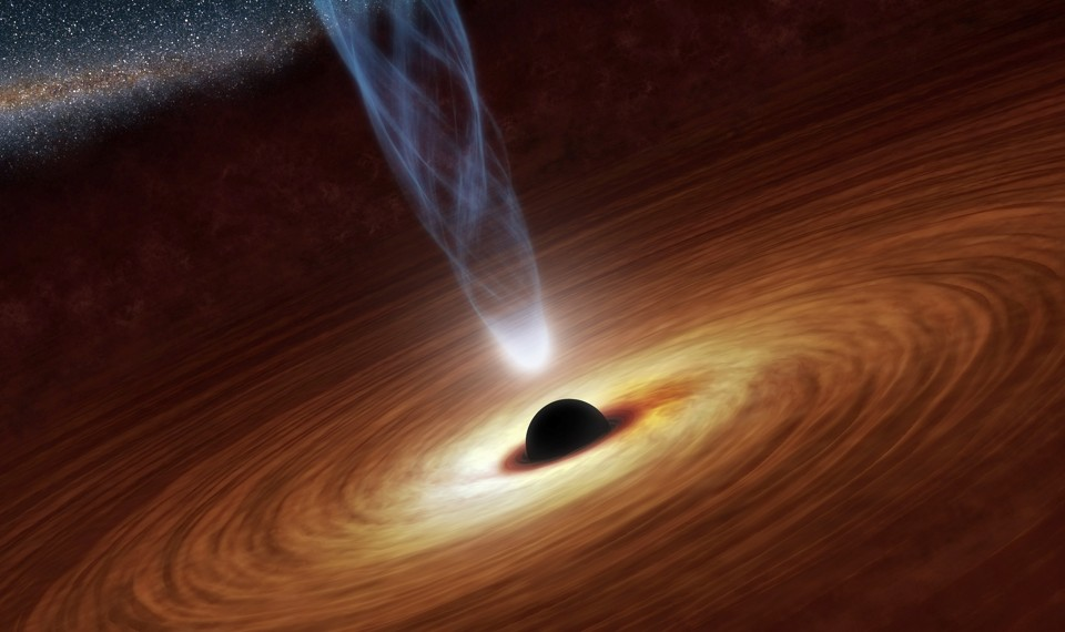 Artist's impression of a supermassive black hole