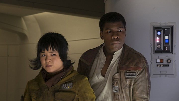 Kelly Marie Tran and John Boyega as Rose and Finn in 'Star Wars: The Last Jedi'