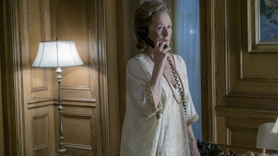 Meryl Streep on the phone in 'The Post'