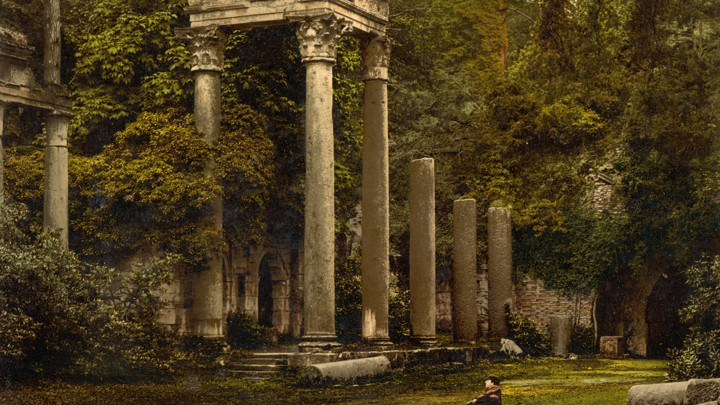 how windsor castle s virginia water ruins moved from libya to