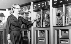 The pioneering computer programmer Grace Hopper