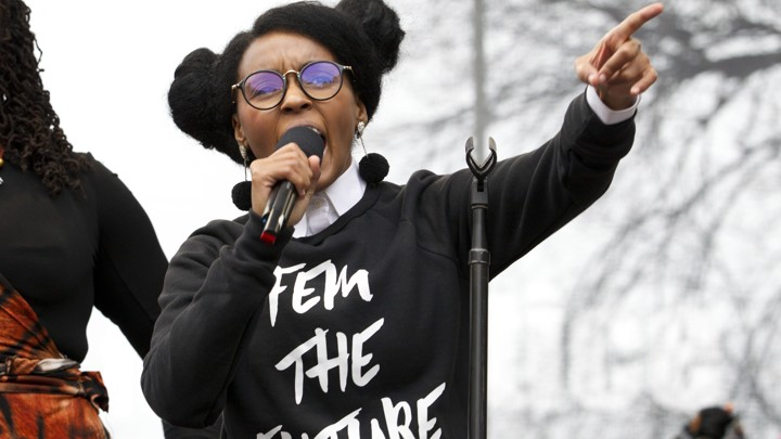 Janelle Monáe performs at the 2017 Women's March
