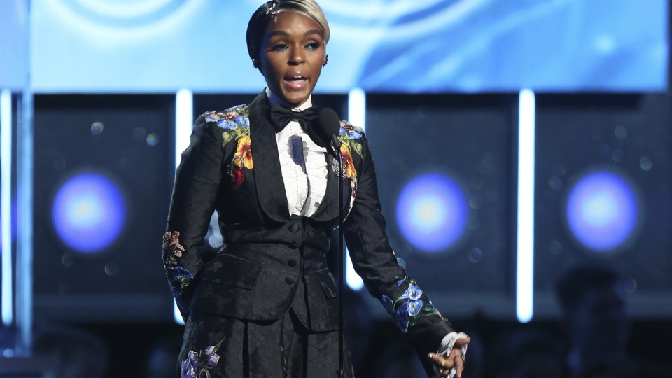 Janelle Monae speaks out for #MeToo from the Grammys stage