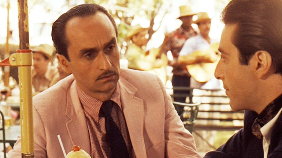 John Cazale as Fredo Corleone and Al Pacino as Michael Corleone in 'The Godfather: Part II'