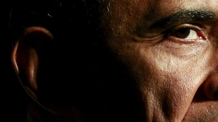 The right ear and eye of Barack Obama