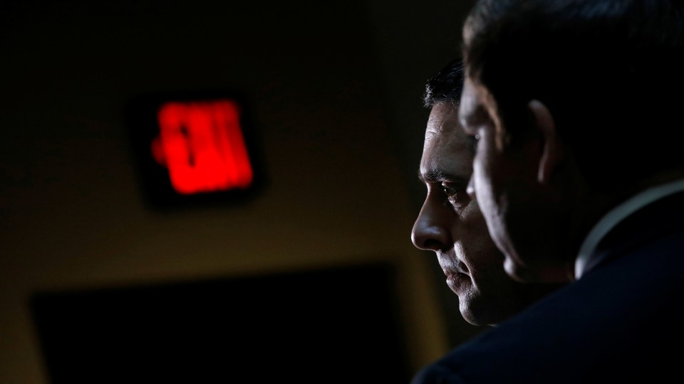 Chairman of the House Intelligence Committee Devin Nunes in Capitol Hill on  October 24, 2017 Carlos Barria / Reuters