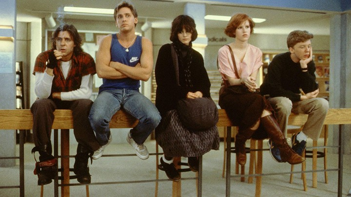 The five main characters of 'The Breakfast Club'