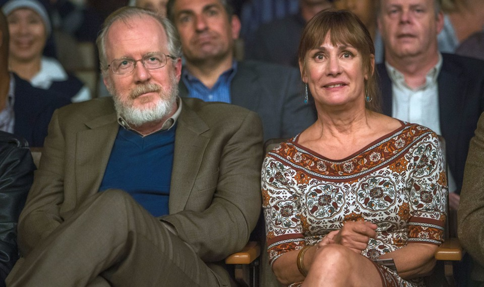 Tracy Letts in a scene alongside Laurie Metcalf in the film 'Lady Bird'