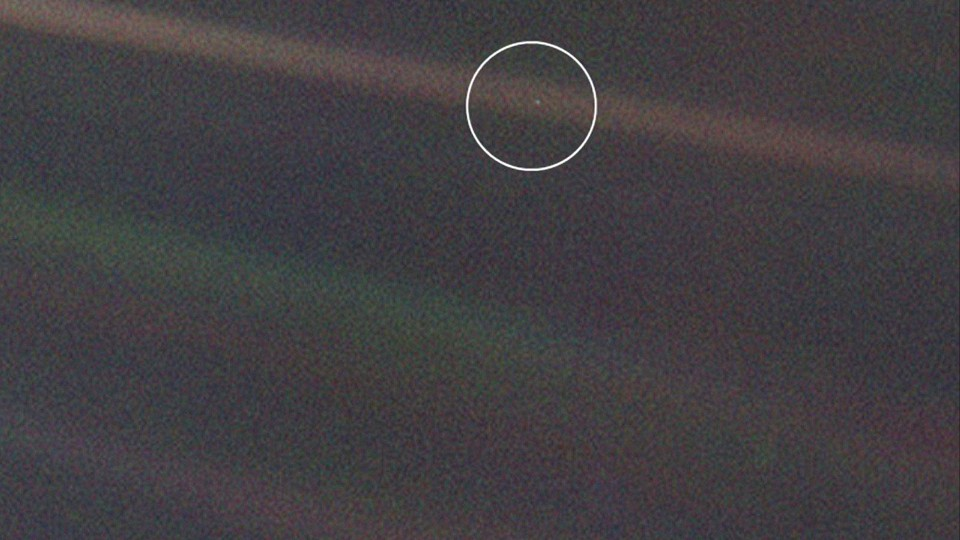 Pale Blue Dot Facebook Cover
