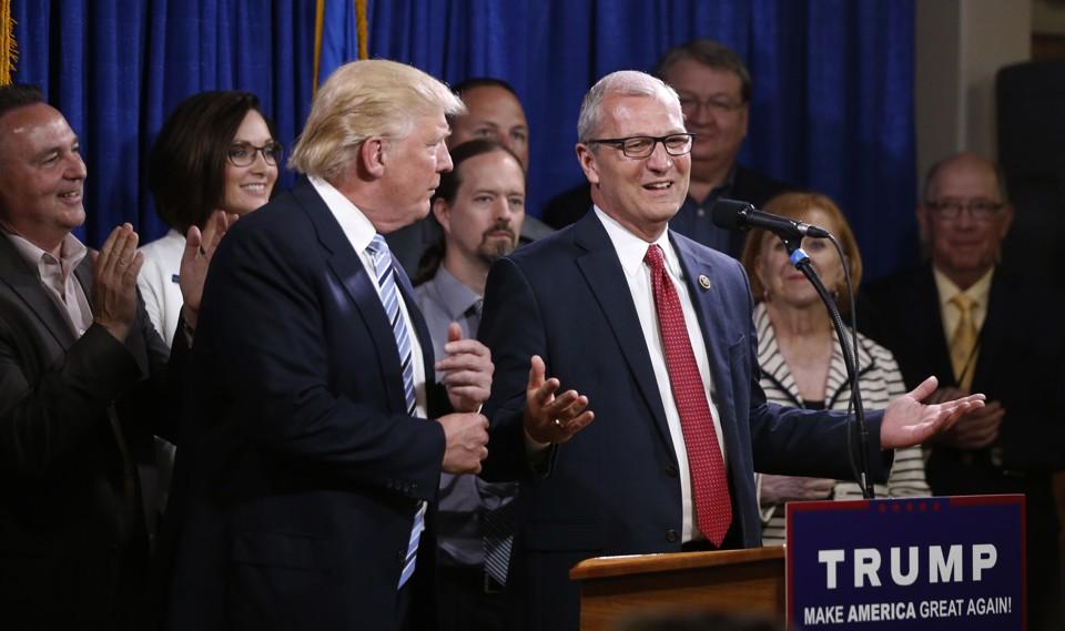 North Dakota Republican Kevin Cramer with President Trump