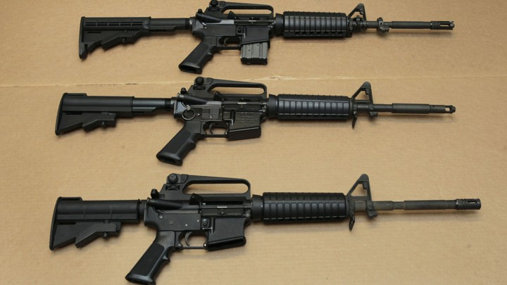 Three AR-15s