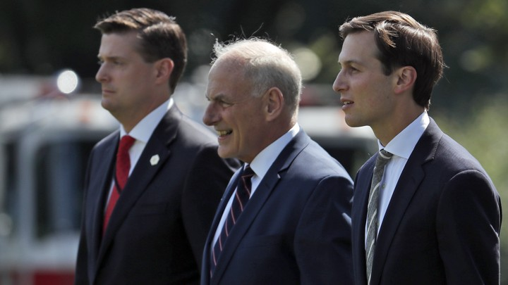 Rob Porter, John Kelly, and Jared Kushner