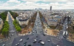 A bird's-eye view of Paris, France
