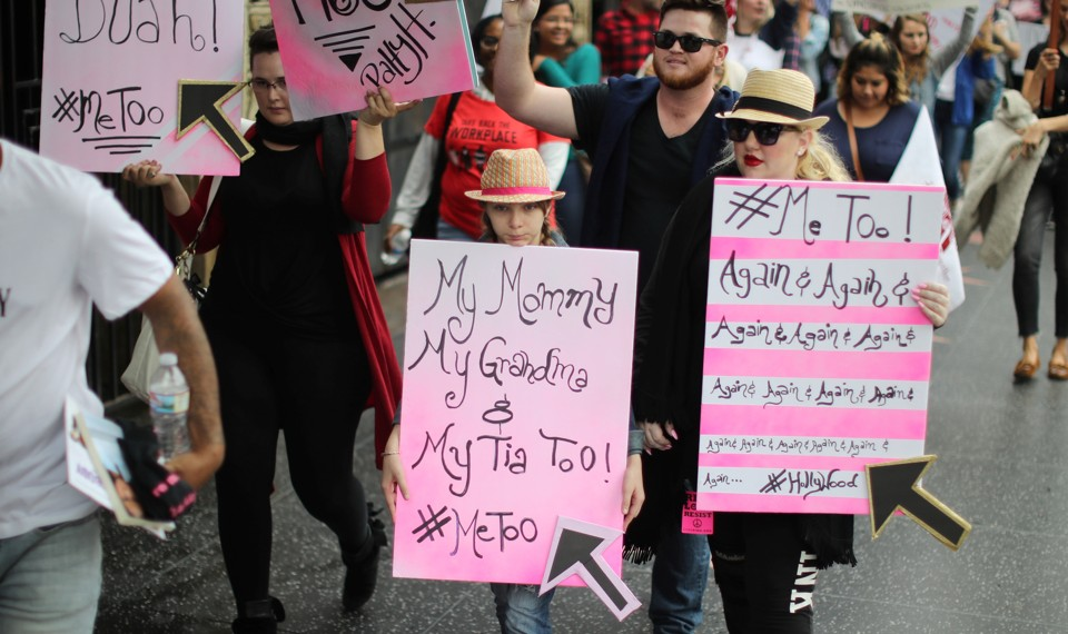 #MeToo protesters march in Hollywood.