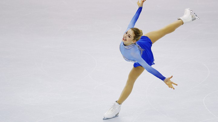 Gracie Gold competes in the women's free-skate competition at the U.S. Figure Skating Championships in 2014.
