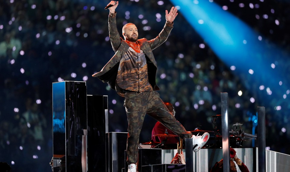 Justin Timberlake at the Super Bowl