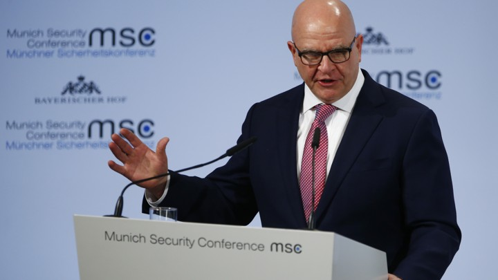 U.S. National Security Adviser H.R. McMaster talks at the Munich Security Conference