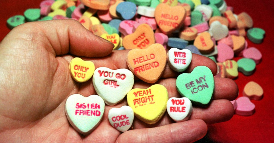 Sweet Talk The Chalky Anthropology Of Candy Hearts The Atlantic