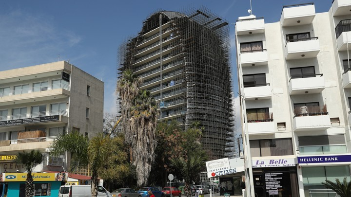 The Oval, a commercial property under construction in Limassol, Cyprus