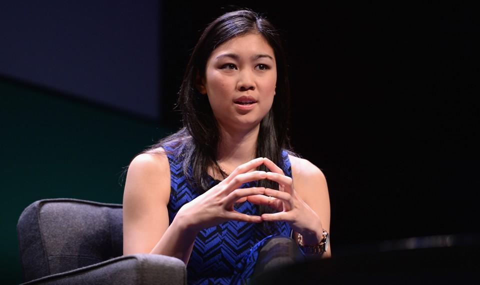 Tracy Chou speaks onstage.