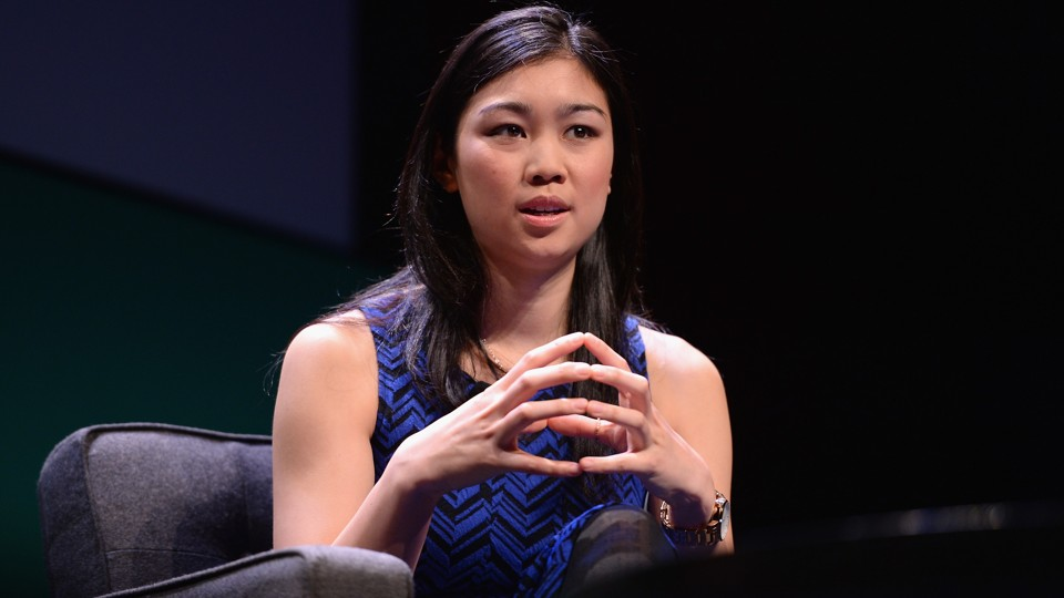 Tracy Chou speaks onstage.