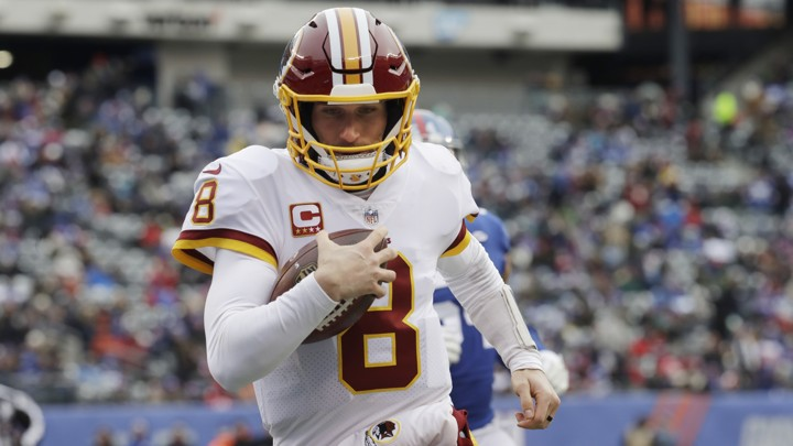 Washington Redskins quarterback Kirk Cousins rushes for a touchdown