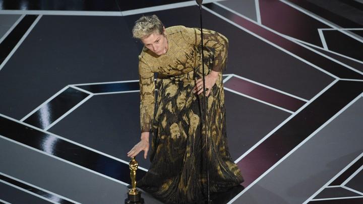 Frances McDormand at the 90th Academy Awards ceremony