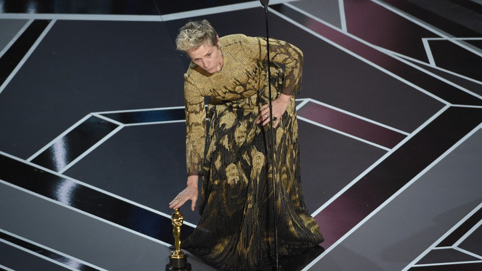 Frances McDormand at the 90th Academy Awards ceremony