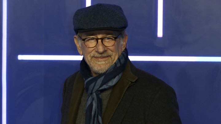Steven Spielberg at the London premiere of his film 'Ready Player One'