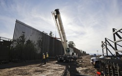 Construction along part of the U.S.-Mexico border