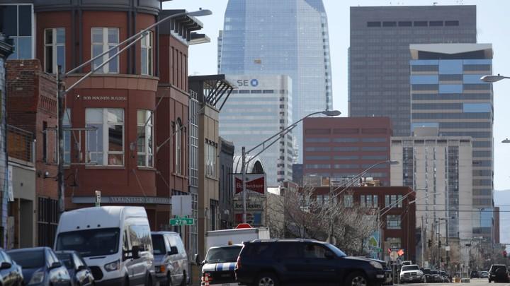 The Denver, Colorado, skyline
