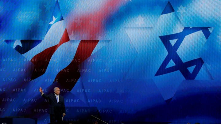 Israeli Prime Minister Benjamin Netanyahu speaks at the AIPAC conference.