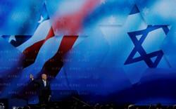 Israeli Prime Minister Benjamin Netanyahu speaks at the AIPAC conference.
