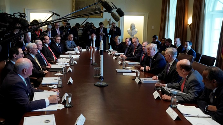 President Trump meets with his Cabinet.