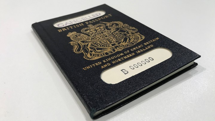 An old UK passport
