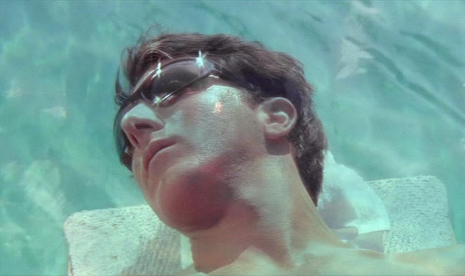 A still of Dustin Hoffman, as Benjamin Braddock, in 'The Graduate'
